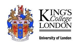 Company Logo of King College London University of London where Dr Chery Cheung and Dr Kenneth Cheung of Morgan Street Dental Centre Dentist are Affiliated